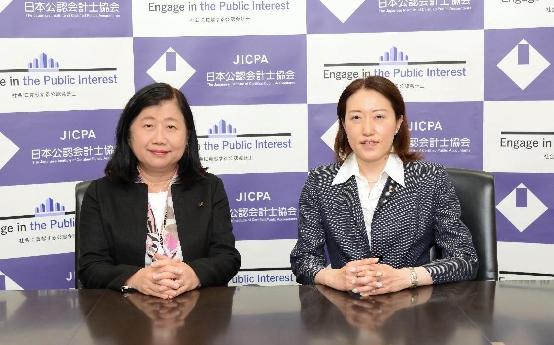 関根会長と鈴木次期IASB理事